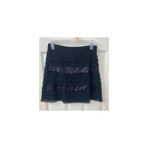 Layered black mini skirt